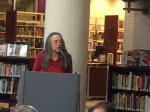 Janet Reading Her Poems at the Kalamazoo Public Library on December 5, 2014