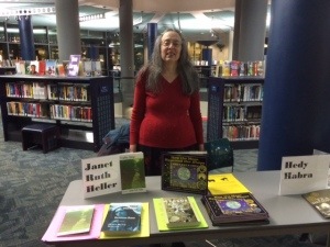 Janet with Her Books at the Kalamazoo Public Library on December 5, 2014