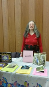 Janet at the Congregation of Moses with Her Books
